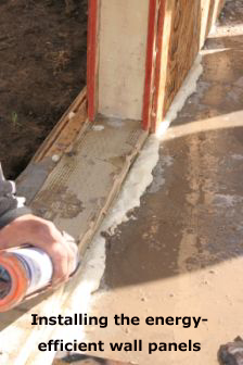 Installing the energy-efficient wall panels
