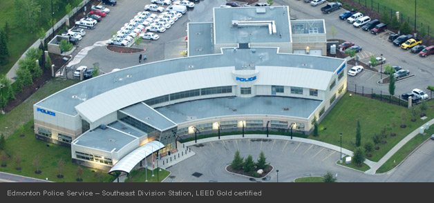 Edmonton Police Service – Southeast Division Station, LEED Gold certified